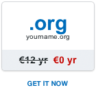 Free .org domain name